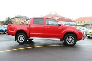 2014 Toyota Hilux KUN26R MY14 SR5 (4x4) Red 5 Speed Automatic Dual Cab Pick-up South Maitland Maitland Area Preview