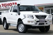 2013 Toyota Hilux KUN26R MY12 SR Xtra Cab White 5 Speed Manual Cab Chassis Woolloongabba Brisbane South West Preview