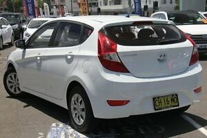 2015 Hyundai Accent RB3 MY16 Active White 6 Speed CVT Auto Sequential Hatchback Wolli Creek Rockdale Area Preview