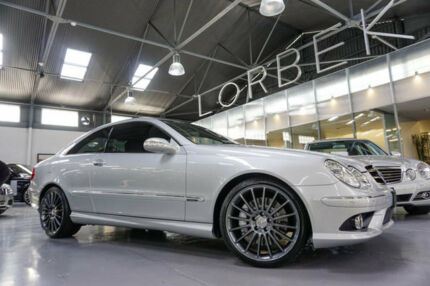 2009 Mercedes-Benz CLK350 C209 07 Upgrade Avantgarde Silver 7 Speed Automatic G-Tronic Coupe Port Melbourne Port Phillip Preview