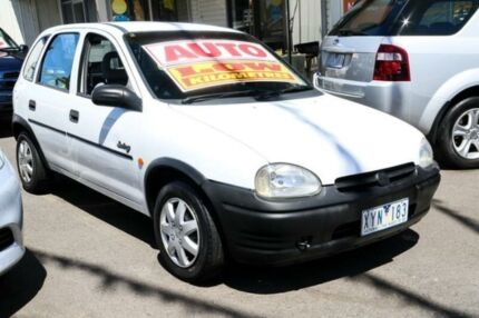 1995 Holden Barina SB Swing White 4 Speed Automatic Hatchback Ringwood East Maroondah Area Preview