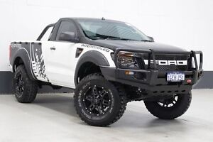 2012 Ford Ranger PX XL 3.2 (4x4) White 6 Speed Manual Cab Chassis Bentley Canning Area Preview