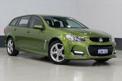 2015 Holden Commodore VF MY15 SV6 Green 6 Speed Automatic Sportswagon Bentley Canning Area Preview