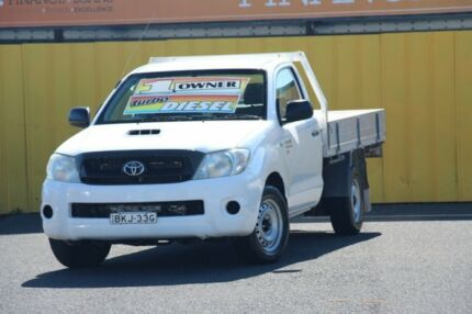 2008 Toyota Hilux KUN16R MY08 SR 4x2 White 5 Speed Manual Cab Chassis Cheltenham Kingston Area Preview