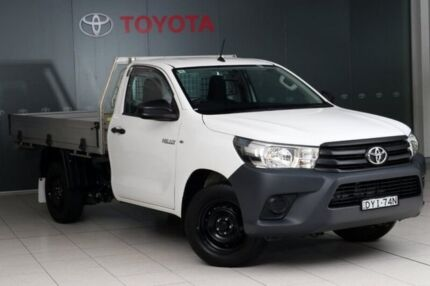 2015 Toyota Hilux TGN121R Workmate 4x2 Glacier White 5 Speed Manual Cab Chassis Glebe Inner Sydney Preview