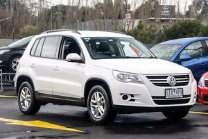 2011 Volkswagen Tiguan 5N MY11 125TSI DSG 4MOTION White 7 Speed Sports Automatic Dual Clutch Wagon Ringwood East Maroondah Area Preview
