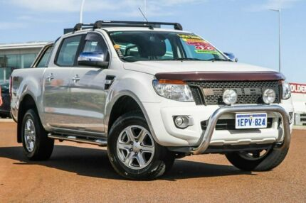 2014 Ford Ranger PX XLT Double Cab White 6 Speed Sports Automatic Utility Rockingham Rockingham Area Preview