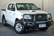 2010 Toyota Hilux KUN26R MY10 SR White 5 Speed Manual Cab Chassis Bayswater Bayswater Area Preview
