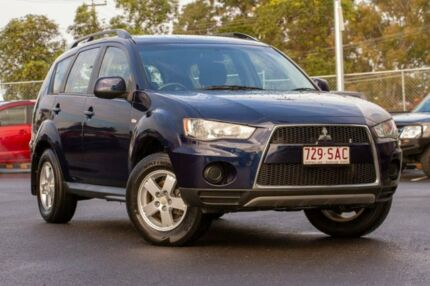 2011 Mitsubishi Outlander ZH MY11 LS 2WD Blue 5 Speed Manual Wagon Hillcrest Logan Area Preview