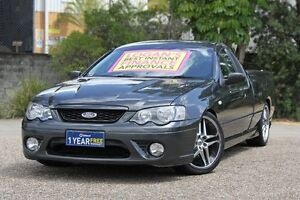 2006 Ford Falcon BF Mk II XR8 Ute Super Cab Black 6 Speed Manual Utility Underwood Logan Area Preview
