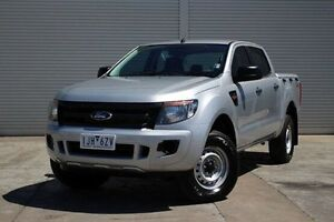 2013 Ford Ranger PX XL Double Cab Silver 6 Speed Sports Automatic Utility Seaford Frankston Area Preview