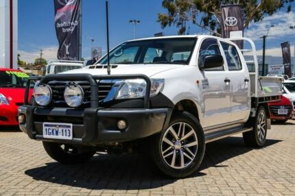 2014 Toyota Hilux KUN26R MY14 SR Double Cab White 5 Speed Manual Cab Chassis Embleton Bayswater Area Preview