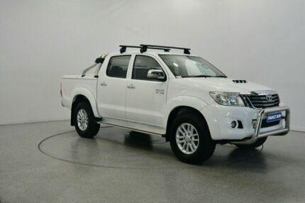 2014 Toyota Hilux KUN26R MY14 SR5 Double Cab White 5 Speed Manual Utility Victoria Park Victoria Park Area Preview