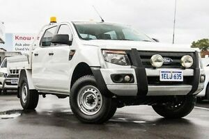 2013 Ford Ranger PX XL 2.2 (4x4) Cool White 6 Speed Manual Crew Cab Utility Glendalough Stirling Area Preview