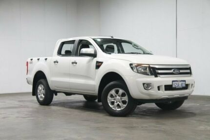 2015 Ford Ranger PX XLS Double Cab White 6 Speed Manual Utility Welshpool Canning Area Preview