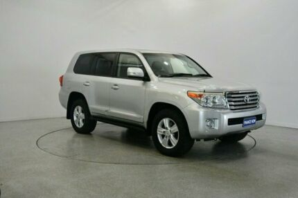 2013 Toyota Landcruiser VDJ200R MY12 Sahara Silver 6 Speed Sports Automatic Wagon Victoria Park Victoria Park Area Preview