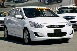 2018 Hyundai Accent RB6 MY18 Sport Chalk White 6 Speed Sports Automatic Hatchback Cleveland Redland Area Preview