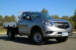 2015 Mazda BT-50 UR0YF1 XT Silver 6 Speed Manual Cab Chassis Wilson Canning Area Preview