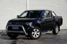2010 Mitsubishi Triton MN MY10 GLX-R Double Cab Black 5 Speed Sports Automatic Utility Frankston Frankston Area Preview