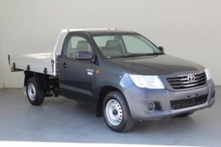 2012 Toyota Hilux TGN16R MY12 Workmate Metal Storm 5 Speed Manual Cab Chassis
