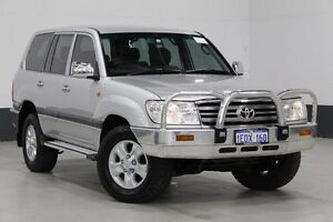 2006 Toyota Landcruiser UZJ100R Upgrade II GXL (4x4) Silver 5 Speed Automatic Wagon Bentley Canning Area Preview