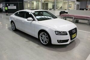 2010 Audi A5 8T MY10 Sportback S tronic quattro White 7 Speed Sports Automatic Dual Clutch Hatchback Maryville Newcastle Area Preview