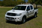 2008 Toyota Hilux KUN16R 08 Upgrade SR White 5 Speed Manual Dual Cab Pick-up Rockingham Rockingham Area Preview