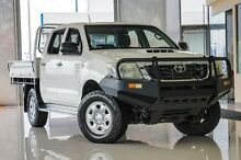 2011 Toyota Hilux KUN26R MY12 SR Double Cab White 5 Speed Manual Cab Chassis Wangara Wanneroo Area Preview