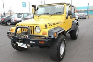 2004 Jeep Wrangler TJ MY2003 Sport Yellow 5 Speed Manual Softtop Devonport Devonport Area Preview