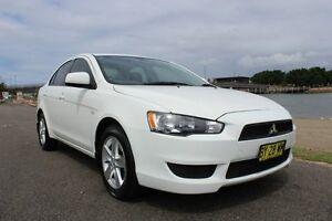 2014 Mitsubishi Lancer CJ MY14 ES White 6 Speed Constant Variable Sedan Hamilton East Newcastle Area Preview