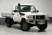 2013 Toyota Landcruiser VDJ79R MY12 Update Workmate (4x4) White 5 Speed Manual Cab Chassis Bentley Canning Area Preview