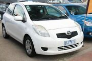 2006 Toyota Yaris NCP90R YR White 4 Speed Automatic Hatchback Heatherton Kingston Area Preview