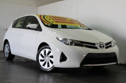 2012 Toyota Corolla ZRE182R Ascent White 7 Speed CVT Auto Sequential Hatchback
