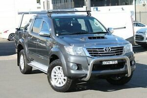 2013 Toyota Hilux KUN26R MY14 SR5 Double Cab Grey 5 Speed Automatic Utility Brookvale Manly Area Preview