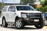 2014 Ford Ranger PX XLT Double Cab White 6 Speed Sports Automatic Utility Kedron Brisbane North East Preview