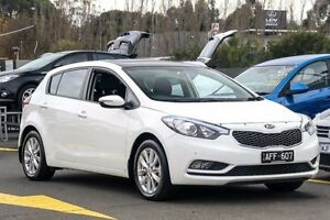 2015 Kia Cerato YD MY16 S White 6 Speed Sports Automatic Hatchback Ringwood East Maroondah Area Preview