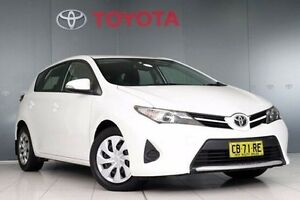 2014 Toyota Corolla ZRE182R Ascent S-CVT Glacier White 7 Speed Constant Variable Hatchback Glebe Inner Sydney Preview