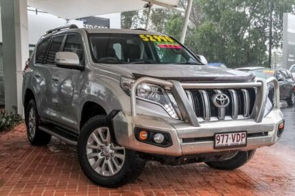 2014 Toyota Landcruiser Prado KDJ150R MY14 VX Silver Pearl 5 Speed Sports Automatic Wagon Noosaville Noosa Area Preview