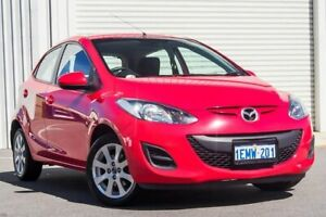 2014 Mazda 2 DE10Y2 MY14 Neo Sport Red 4 Speed Automatic Hatchback Osborne Park Stirling Area Preview