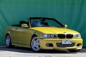 2003 BMW 330CI E46 MY2003 Yellow 6 Speed Manual Convertible Ringwood East Maroondah Area Preview