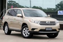2013 Toyota Kluger GSU45R MY13 Upgrade KX-R (4x4) 7 Seat Sandstone 5 Speed Automatic Wagon Old Guildford Fairfield Area Preview