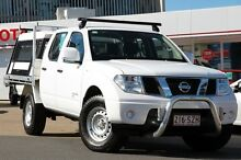 2012 Nissan Navara D40 S7 MY12 RX White 5 Speed Automatic Utility Woolloongabba Brisbane South West Preview