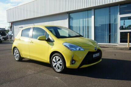 2017 Toyota Yaris NCP131R SX Vivid Yellow 4 Speed Automatic Hatchback Cardiff Lake Macquarie Area Preview