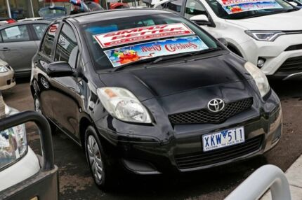 2009 Toyota Yaris NCP90R MY10 YR Black 5 Speed Manual Hatchback Mill Park Whittlesea Area Preview