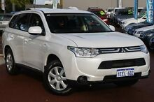 2013 Mitsubishi Outlander ZJ MY13 ES 4WD White 6 Speed Constant Variable Wagon Cannington Canning Area Preview
