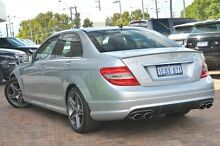 2009 Mercedes-Benz C63 W204 AMG Silver 7 Speed Sports Automatic Sedan Osborne Park Stirling Area Preview
