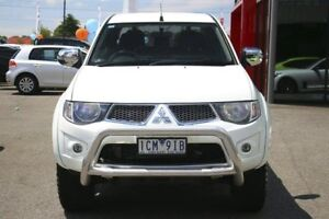2013 Mitsubishi Triton MN MY13 GLX-R Double Cab White 5 Speed Sports Automatic Utility