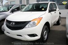 2012 Mazda BT-50 UP0YF1 XT White 6 Speed Manual Cab Chassis Balcatta Stirling Area Preview