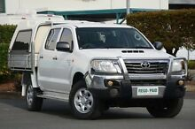2012 Toyota Hilux KUN26R MY12 SR Double Cab Glacier White 5 Speed Manual Cab Chassis Acacia Ridge Brisbane South West Preview