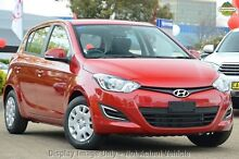 2014 Hyundai i20 PB MY14 Active Red 4 Speed Automatic Hatchback Gymea Sutherland Area Preview